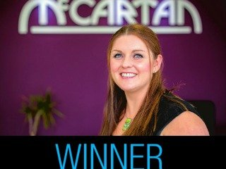 Another award for Director Hannah McCartan at the Women in Business Awards 2015!