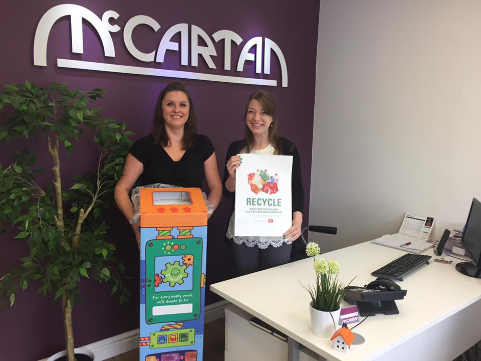 McCartan Lettings Teams Up with Ella's Kitchen to Save the Planet